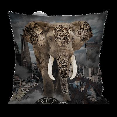 Ligne 29 – Housse de coussin Elephant | L'univers Animalier