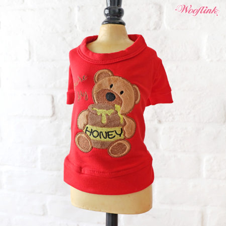 cd5229a85685 Wooflink – T-shirt Sweat You re My Honey RED